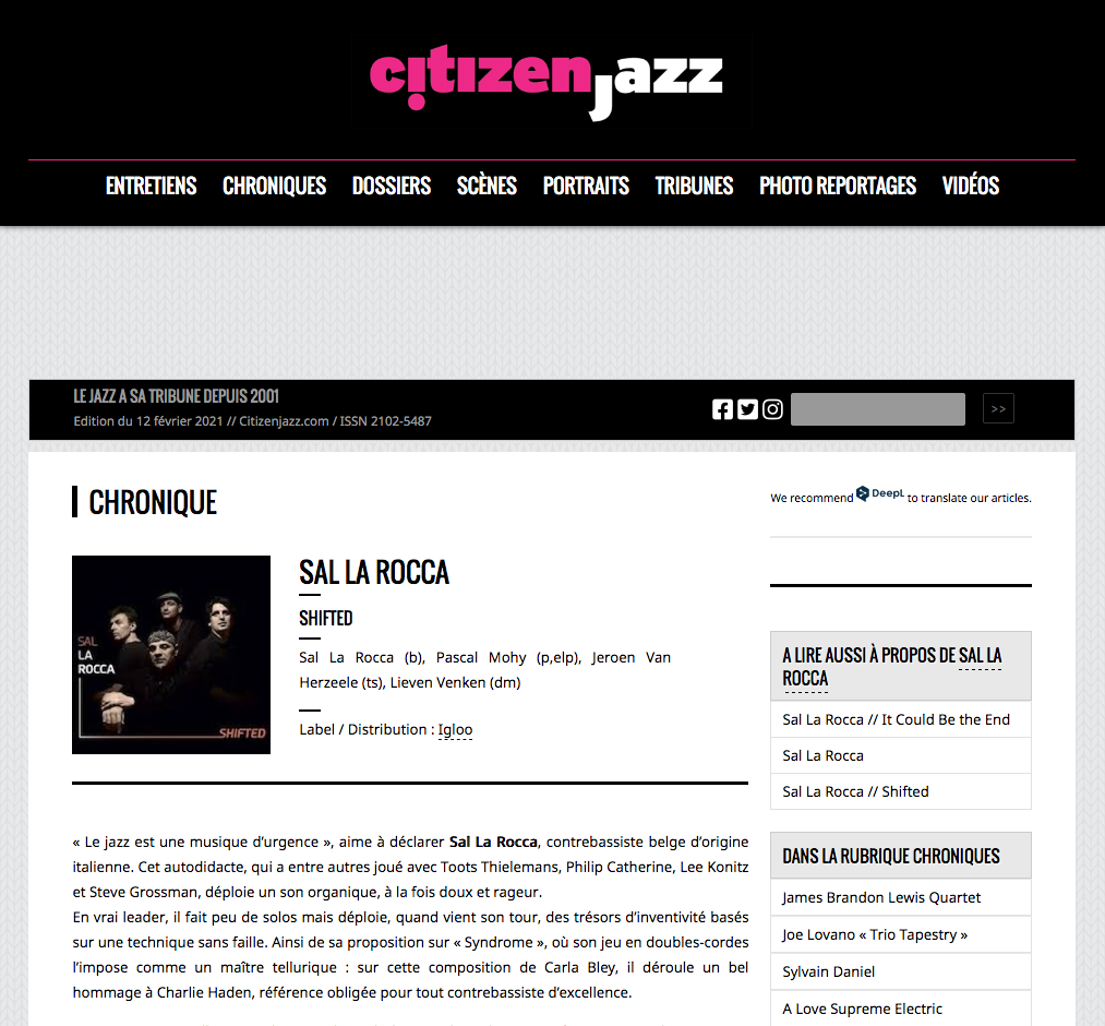 CITIZEN JAZZ⎮Chronique
